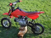 I transformed a Honda dirt bike to an 88 BBR pit motor