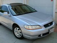 2000 Honda Accord EX Coupe - 4 Cly Automatic. 2 Door