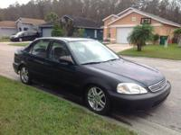Selling my 2000 Honda Civic Ex with the rims. Alarm.