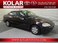 Local Trade-in. Civic EX. Come to Kolar Toyota Hyundai!