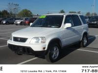 2000 Honda CR-V Special Edition White  Options:  146 Hp