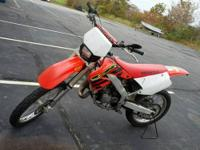 2000 CR125 With street tires and fully set up for the