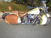 This is a 2000 Indian Chief with only 1200 miles! Cream