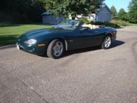 2000 Jaguar XK8 convertible, Green with Tan interior,