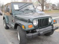 2000 JEEP WRANGLER 4.0 l, 6cyl. AUTOMATIC, A/C, AM/FM