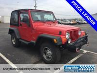 New Price! Flame Red Clearcoat/Black Soft Top 2000 Jeep