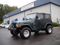 Options Included: Wrangler Sport 4x4, Alloys, A/C,