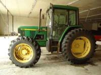2000 John Deere 6410 4x4 tractor with cab, a/c 16 speed