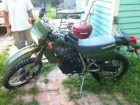 like new condition 2000 kawasaki klr 250 cc , bike has