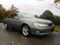 Options Included: N/A2000 LEXUS ES300...Local 1-Owner