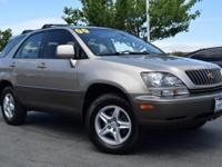 Clean CARFAX. GOLD 2000 Lexus RX 300 AWD 4-Speed