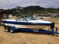 We are selling our Mb sport wake board/ski boat in near