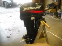 THIS 20 HP 2 STROKE BOAT MOTOR WAS BOUGHT NEW IN 2000.