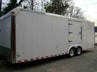 24 Ft. Enclosed Trailer. Wired for 12 volt and 120. Has
