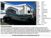 This hybrid camper has everything inside you need but