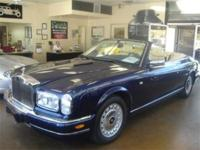 2000 Rolls-Royce Corniche. New body style. Blue with