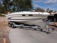 23' Overnighter with Trailer (4 new tires), Bimini Top,