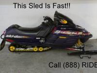 2000 Ski Doo Formula 500 - Liquid cooled snowmobile for