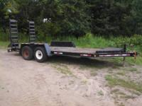 2000 BIG TOW Skid Steer trailer  -Good Tires  -16 ft