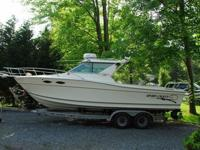 """Prepared to fish or cruise.LOA 25'2"""" from transom to"""