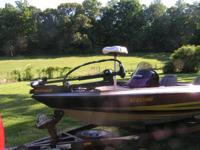 2000 STRATOS-18 FT.-STRATOS TRAILER-JOHNSON 150HP