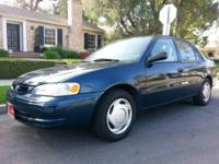 2000 Toyota Corolla 4dr 4cyl new engine, automatic and