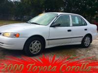 2000 Toyota Corolla, 85,507 miles. Price: $4,999. Year:
