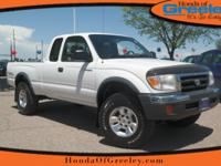 Clean CARFAX. Natural White 2000 Toyota Tacoma TRD Off