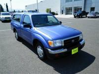 Just Arrived!!! This Blue 2000 Toyota Tacoma is powered