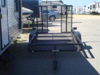 2000 Venture Trailers 5X8 STEEL REAR RAMP! Trailers