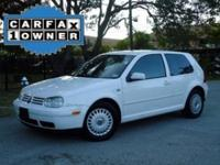 Options Included: N/A2000 VW Golf GL 2.0 with 107k