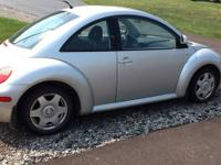 2000 VW beetle tdi diesel Silver with black interior