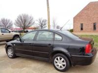 2000 VW PASSAT WITH ONLY 104,000 MILES, BLACK ON BLACK,