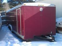2000 Wells Payload 24' Enclosed Trailer. 10,000 pounds