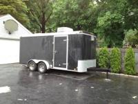16' by 7' enclosed trailer,dual axle, heat and air