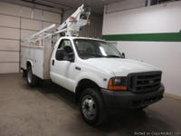 2000 Ford F450 2wd V10 Regular Cab Utility Bucket