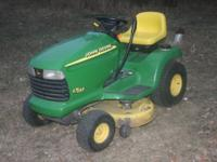 2000 John Deere LT155 Riding lawnmower, hydrostatic, 38