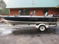 2000 LUND 1650 REBEL FISHING BOAT.* 16 FEET 5 INCHES