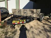 "2001 16' x 8'6"" Big Tex trailer Electric brakes Two"