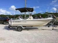This 2001 17' Sea Hunt Center Console is powered by a