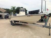 This 2001 22' Ranger Bay Boat is powered by a Mercury