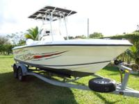 2001 Angler 204CC 21' Center Console Fishing Boat