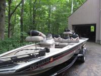 2001 bass tracker Pro Team 175xt, single console with