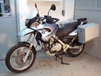 2001 BMW F650GS in silver blue with only 28k miles.