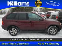 Options:  2001 Bmw X5 3.0|Red|Right Suv! Right Price!