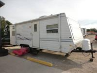 This 01 bunkhouse pull type camper is I believe app 24