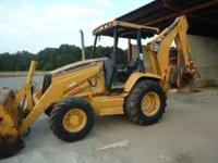 2001 Caterpillar 416C 4x4 loader backhoe with 4n1 front