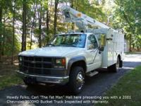 2001 Chevrolet 3500HD Bucket Truck with 122041 Original
