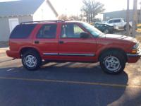 2001 Chevy Blazer, 4x4, 4 door, front container cloth
