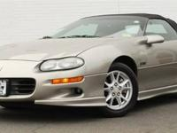 This 2001 Chevrolet Camaro 2dr 2dr Convertible Z28